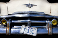 Classic 1950s muscle car front grill