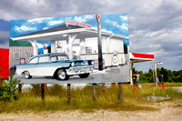 55 Chevy  billboard old historic Route 66 mother road Illinois