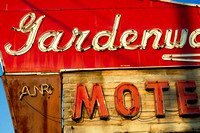 Gardenview Motel Vintage Neon Sign Historic Route 66
