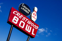 Crestwood Bowling Alley Sign Historic Route 66
