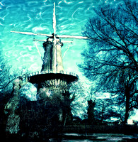 color photo of windmill leiden holland